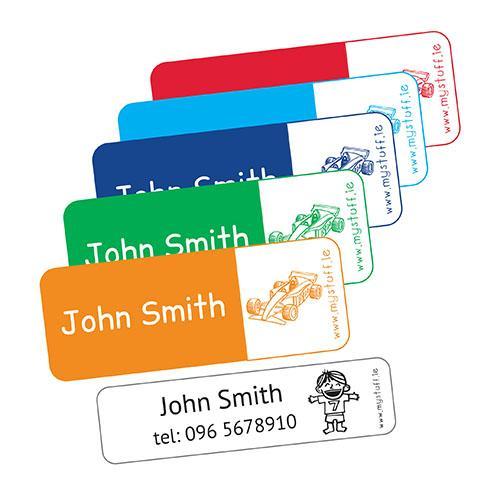 MyStuff Mega Value Pack Multi Colour selection of labels - pen labels, stickers, clothing labels, shoe labels