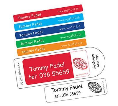 MyStuff Mega Value Pack selection of labels - pen labels, stickers, clothing labels, shoe labels