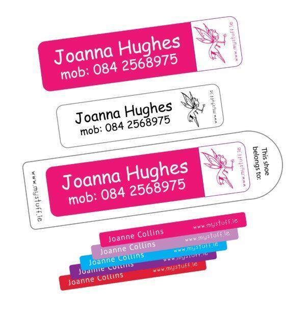 MyStuff Mega Value Pack Pretty or Trendy colours - pen labels, stickers, clothing labels, shoe labels