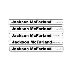 Clear Pencil Labels